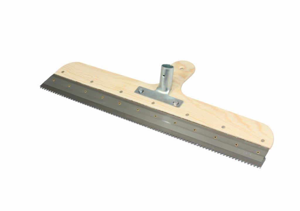 Boden-Flächenrakel mit Stielaufnahme u. Zahnleiste Kubala